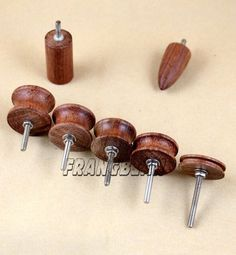 7 Stlye Dremel Hole Master,Coco Bolo Leather Burnisher, leather slicker Tool