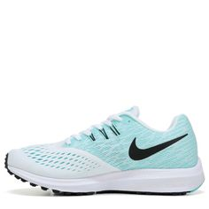 Nike Women s Zoom Winflo 4 Running Shoes (White Black-Aurora G) Cipősarkak ba2349a4ea