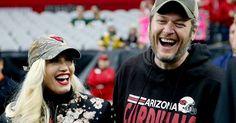 Blake Shelton just took Gwen Stefani on every football fan's dream date