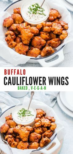 Have you ever made these Buffalo Cauliflower Wings? They are BAKED and not Fried… Have you ever made these Buffalo Cauliflower Wings? They are BAKED and not Fried . Serve these Cauliflower Hot wings as an appetiser or side for BBQ. Baked Buffalo Cauliflower, Cauliflower Recipes, Vegan Cauliflower Wings, Clean Eating Snacks, Healthy Snacks, Healthy Eating, Healthy Breakfasts, Eating Raw, Vegetarian Recipes