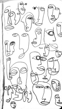 one line doodle - inspired art - Kunst Line Doodles, Abstract Face Art, Minimalist Drawing, Minimalist Art, Art Drawings Sketches Simple, Simple Art, Art Sketchbook, Art Inspo, Painting & Drawing