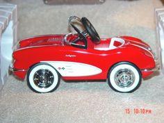 1958 CUSTOM CORVETTE Pedal Car Replica Hallmark~Kiddie Car Classics $195 on GoAntiques