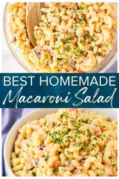 This Easy Macaroni Salad is a delicious and simple side, perfect for BBQ's, pot lucks and parties. A cool and creamy pasta salad that'll knock your socks off! Potluck Dishes, Potluck Recipes, Pasta Dishes, Cooking Recipes, College Recipes, Slaw Recipes, Pasta Salad Recipes, Side Dishes Easy, Side Dish Recipes