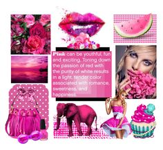 """""""Pink makes  everything seem better .💗"""" by glitterlady4 ❤ liked on Polyvore featuring art"""