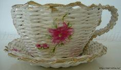 плетение из газет. чашка с блюдцем из газетных трубочек (31) (700x408, 191Kb)