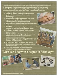 What Can I do with a degree in #sociology?