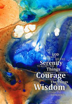 Serenity Prayer 4 - By Sharon Cummings Painting by Sharon Cummings - Serenity Prayer 4 - By Sharon Cummings Fine Art Prints and Posters for Sale
