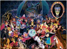 Disney villains cross stitch pattern chart