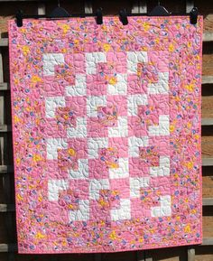 Cat quiltwonky log cabin quilttchworkeaster gifthome decor pink patchwork quilt and tubilds quilty bucketristmas giftquilted negle Gallery