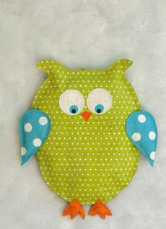 Baby Burlap Owl  Door and Wall Hanger  <3