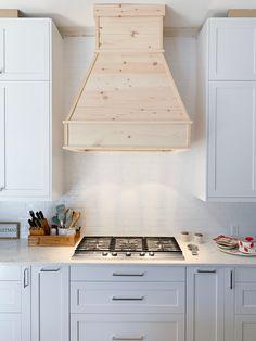 kitchen vent hood ideas with microwave Kitchen Hood Design, Kitchen Vent Hood, Kitchen Redo, Kitchen Remodel, Wood Hood Vent, Kitchen Rustic, Diy Hood Range, Range Hood Cover, Wood Range Hoods
