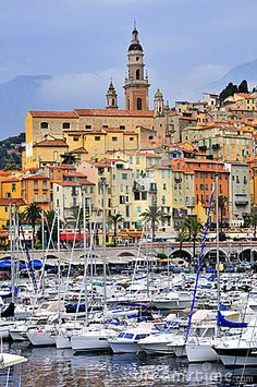 Port-of-Menton, France. Also honeymoon appropriate.