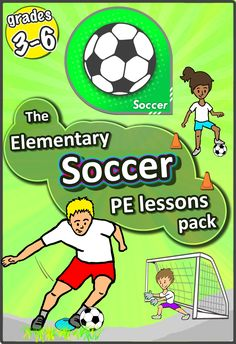 Over 45 PE soccer skill ideas, drills, ball work and games, and 6 X weekly pre-planned lessons to develop your classes' sport skills.The Elementary grades Soccer pack has everything you need to teach! WHY DO I NEED THIS SOCCER PACK? Football Warm Up, Pe Lesson Plans, Pe Activities, Physical Activities, Activity Games, Warm Up Games, Elementary Pe, Pe Lessons, Gym Games