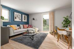 Modernes Wohnzimmer   Wohnideen Inneneinrichtung Massivhaus Ideen FLAIR 180  DUO Trend Von Town Country Haus