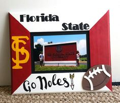 made this florida state fsu picture frame painted it frm scratch brand new wooden