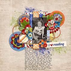 I-Love-Reading kit used: Check it Out by Bella Gypsy Designs #digitalscrapbooking #digiscrap #bellagypsydesigns #scraporchard