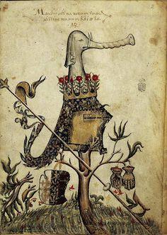 Stemma di Re Carlo III di Durazzo. [Carlo II d'Angiò, 1285-1308] -- Historia civitatis Troiane, Colonne, Guido delle, 1287 [Bibliothèque nationale d'Espagne]