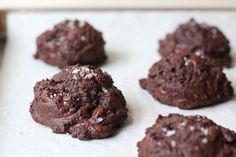 dense, brownie-like drop cookies studded with melting chocolate chunks
