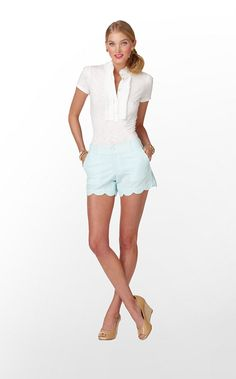 Lilly Pulitzer Buttercup blue shorts. I'll wear anything with a ruffle or scallop.