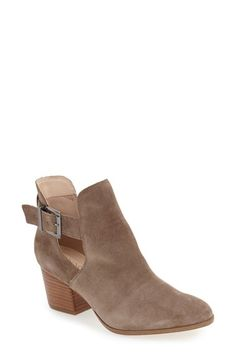 Free shipping and returns on Sole Society 'Olive' Split Shaft Bootie (Women) at Nordstrom.com. Luxe suede envelops this gorgeous almond-toe bootie accented with a buckled ankle strap and modest stacked heel.