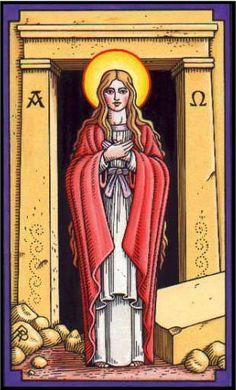 Magdalen as Papess Tarot Card by Robert Place