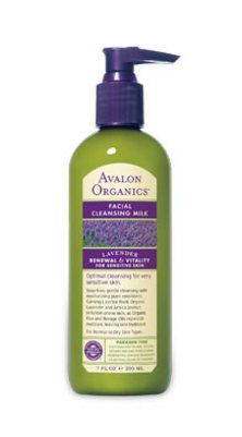 Facial-cleansing milk is creamy and has a light lavender scent. Cleans skin and does not dry it out. #organic #Avalon_Organics #lavender