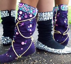 Trinidad Carnival Diary: boot decoration ideas. I could wear these