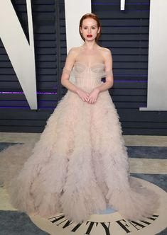 Madelaine Petsch flaunts nude gown at the 2019 Vanity Fair Oscar Party - Madelaine Petsch – 2019 Vanity Fair Oscar Party - Madelaine Petsch, Selma Blair, Winnie Harlow, Nude Gown, Leslie Mann, News Fashion, Freida Pinto, Gabrielle Union, Cheryl Blossom
