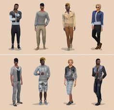 Netz-à-porter – outfits ready to wear for your sims (no CC required) - Page 15 — The Sims Forums Sims 4 Male Clothes, Sims 4 Clothing, Sims House Design, Sims Four, Sims 4 Cas, Cartoon Faces, Mix Match, Well Dressed, Military Jacket