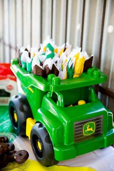 Johen Deere Tractors Birthday Party Ideas | Photo 7 of 21 | Catch My Party