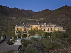 This Scottsdale mansion is designed in true Mediterranean style. It is located on more than 2-acres in the exclusive community of Silverleaf.