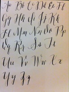modern calligraphy alphabet - Google Search