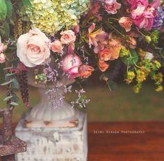 Inspiração   a decoração de casamento romântica da Flávia e do Ivan