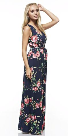 Bar Iii Printed Wrap Maxi Dress Only At Macy S Blue S Maxi