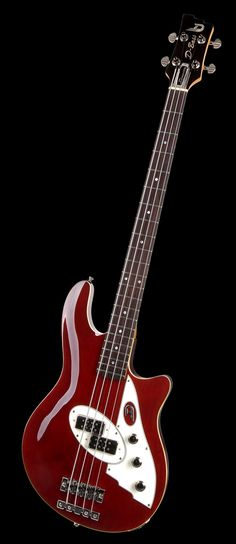 Duesenberg Guitars D-Bass in Sonoma Red... Part of Göldo Music GmbH & is widely known for their classic and destinctive Art Deco designs. RESEARCH #DdO:) - https://www.pinterest.com/DianaDeeOsborne/basses-of-life/ - BASSes OF LIFE. Founded: 1986. Many of top players in world are recording & perform live with these top quality instruments.