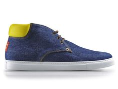 (5) Two Tone Denim Shoes & Casual Sneakers - Dsquared2 2013 Spring Mens Made in Denim Finds - Jeanswear Jackets & Footwear