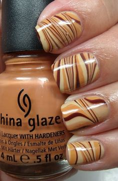 25 Beautiful Brown Nail Art Designs