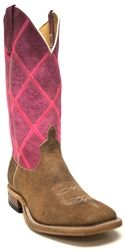 Anderson Bean pink patchwork cowboy boots.