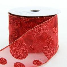 Glittered dot ribbon