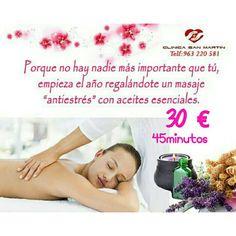 Date un #masaje #relajante con aceites esenciales de 45 minutos. #oferta de #enero 30€. #Clínica San Martín, cuidamos de ti