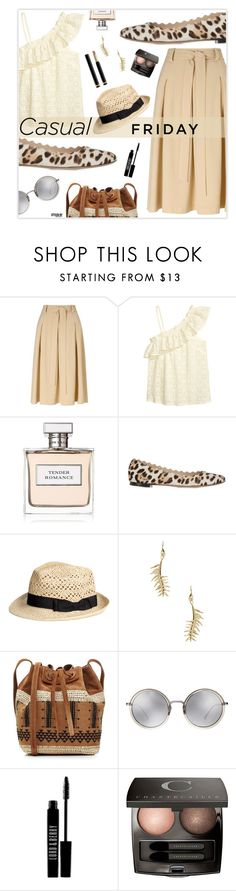 """Casual Friday"" by marion-fashionista-diva-miller ❤ liked on Polyvore featuring Miss Selfridge, Ralph Lauren, Chloé, Eddie Borgo, Vanessa Bruno, Linda Farrow, Lord & Berry, Chantecaille, Gucci and casual"
