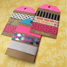 """""""#Washi gift tags... for #pocketletters"""""""