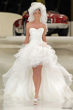 eme di eme wedding dresses 2014 grecia short long mullet bridal gown