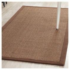 Klara Natural Fiber Area Rug - Brown / Brown (8' X 10') - Safavieh, Durable