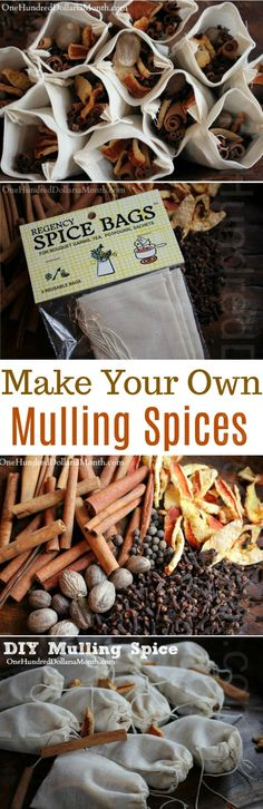 DIY Homemade Mulling Spice, Mulling Spice Recipes, Crock Pot Mulling Spices, How to make Mulling Spices, Ingredients for Mulling Spices Christmas Party Food, Christmas Cooking, Christmas Drinks, Christmas Ideas, Christmas Decor, Holiday Decor, Holiday Treats, Holiday Recipes, Mulling Spices