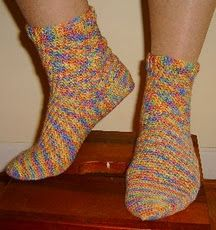 Step-by-step Crocheted Socks Tutorial