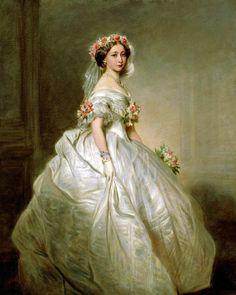 Franz Xaver Winterhalter, Princess Alice Maud Mary as a bridesmaid, wife of Grand Duke Louis IV of Hesse. She was the child of Queen Victoria & Prince Albert of Saxe-Coburg-Gotha Franz Xaver Winterhalter, Queen Victoria Children, Queen Victoria Prince Albert, Princess Victoria, Victorian Art, Victorian Fashion, Reine Victoria, Royal Collection Trust, Alexandra Feodorovna