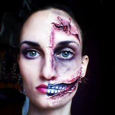 Media y media cara. | 33 maquillajes completamente escalofriantes para probar este Hallowen
