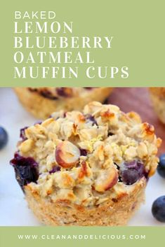 Baked Blueberry Lemon Oatmeal Muffin Cups Baked Blueberry Lemon Oatmeal Muffin Cups Source by amomstake Blueberry Oatmeal Muffins, Lemon Muffins, Blue Berry Muffins, Blueberry Breakfast, Mini Muffins, Baked Oatmeal Cups, Baked Oatmeal Recipes, Baked Oats, Oatmeal Bars