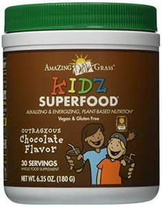 Amazing Grass Kidz Superfood Powder, Chocolate, 6.35-Ounce Container >>> Learn more by visiting the image link.